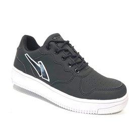 Piedro Piedro - Zwarte Jongens Sneaker Witte Zool