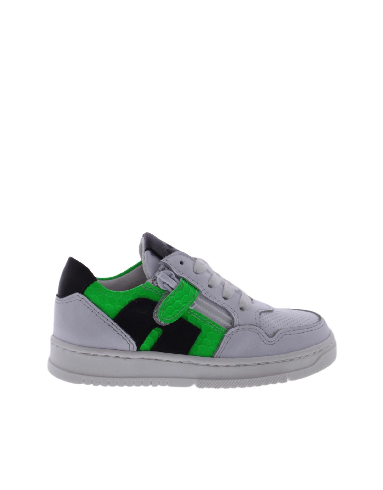 Piedro Piedro - Wit Groen Jongens Sneaker