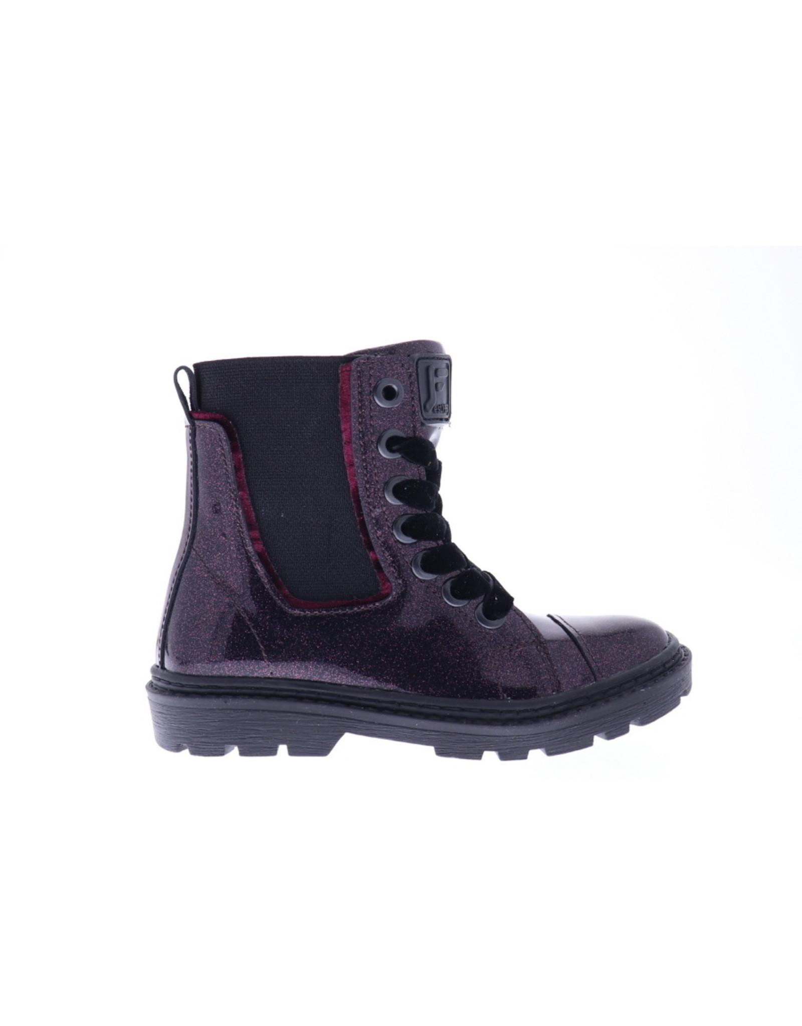 Jochie Jochie-Meisjes-Veterboot-purple-Lak