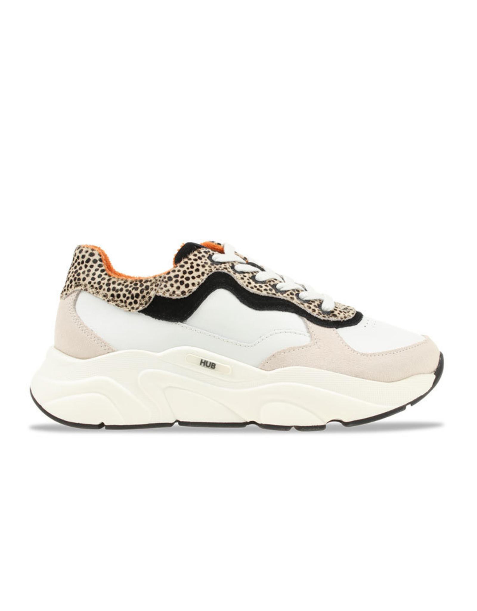 HUB Hub-Sneaker-White-Cheeta-Rock