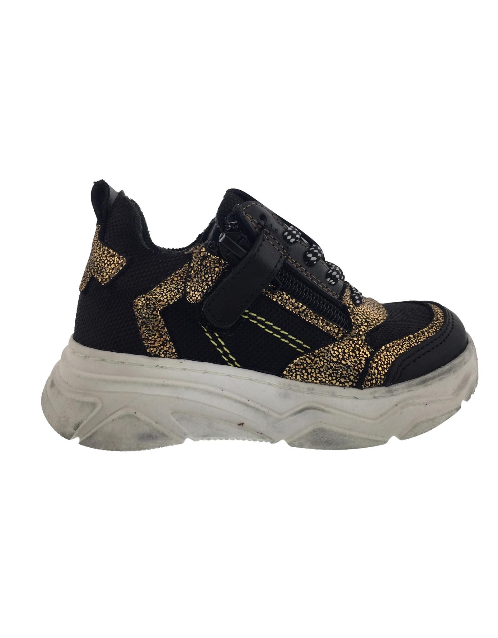piedro Piedro-Sneaker-Zwart/goud