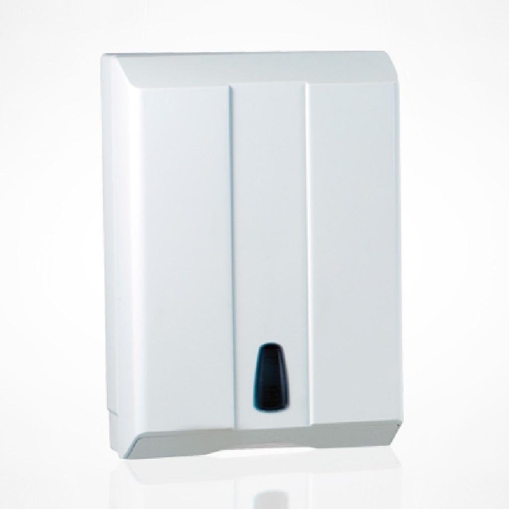 Euro Select Handdoekdispenser wit t.b.v. z-vouw handdoekjes