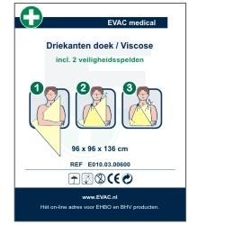 HEKA Driekante doek - viscose/katoen