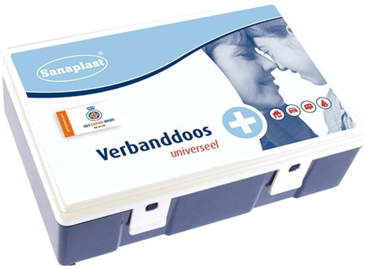 Sanaplast Verbandtrommel universeel - oranje kruis 2016