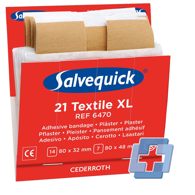Salvequick 6470 navulling 21 textiel  XL (6 stuks)