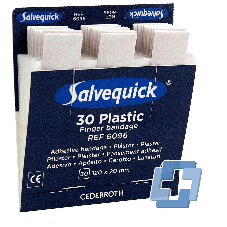 Salvequick 6096 navulling 30 plastic vinger pleisters