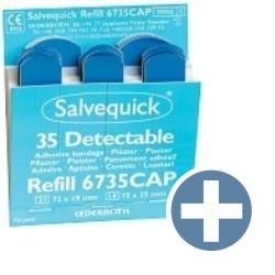Salvequick 6735 navulling 35 blauwe pleisters HACCP