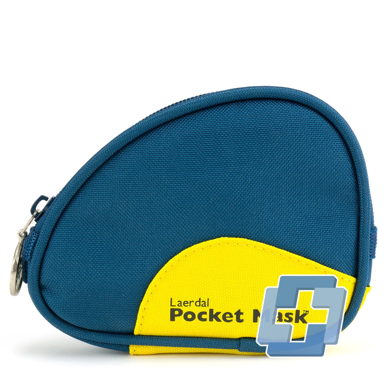 Laerdal Pocket mask in blauwe draagtas voor aan broekriem
