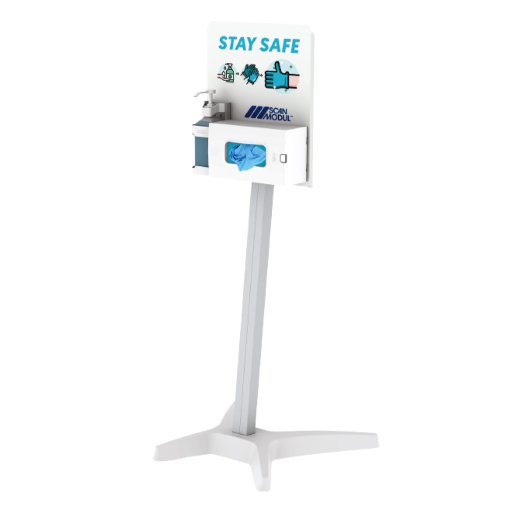 Hygienic roll stand with wheels