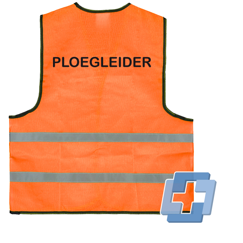 Veiligheidsvest oranje diverse teksten beschikbaar