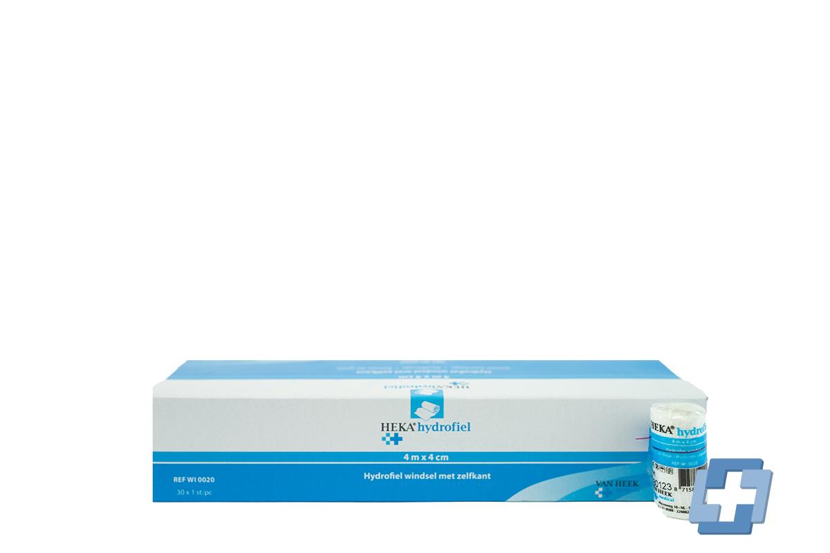 HEKA Niet-elastisch fixatiewindsel - 4 m x 4 cm (30 stuks)