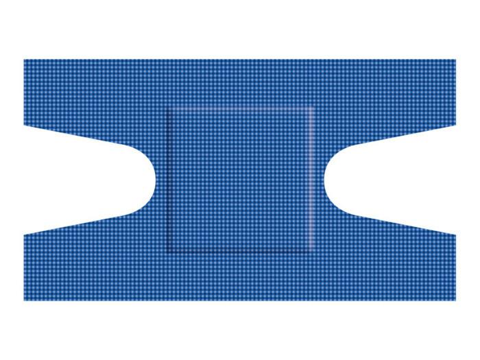 Detectaplast blauwe elastische textiel pleisters HACCP ET anker (50 stuks)
