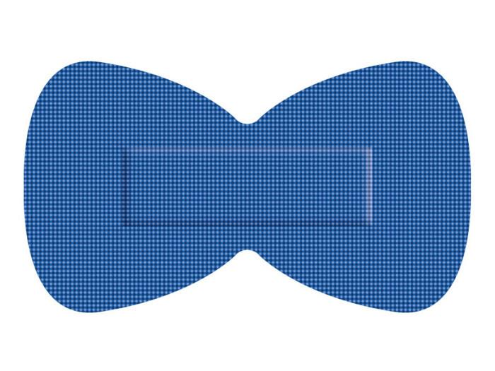 Blauwe elastische textiel pleisters HACCP ET vingertop / vlinder (50 stuks)