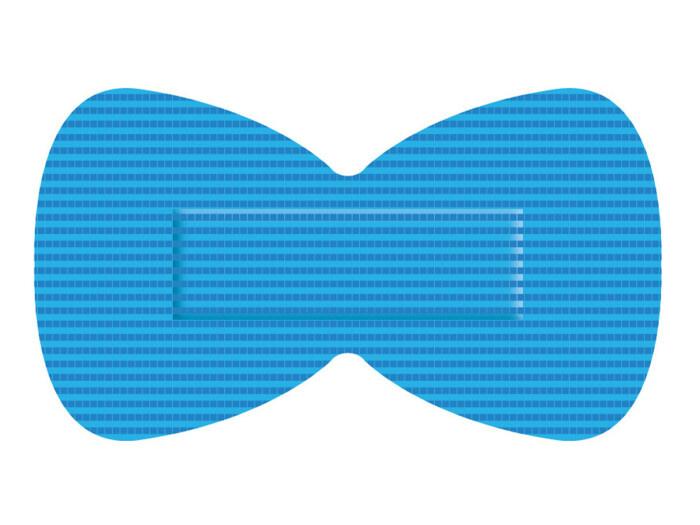 Waterbestendige blauwe pleisters HACCP PU vingertop / vlinder (50 stuks)