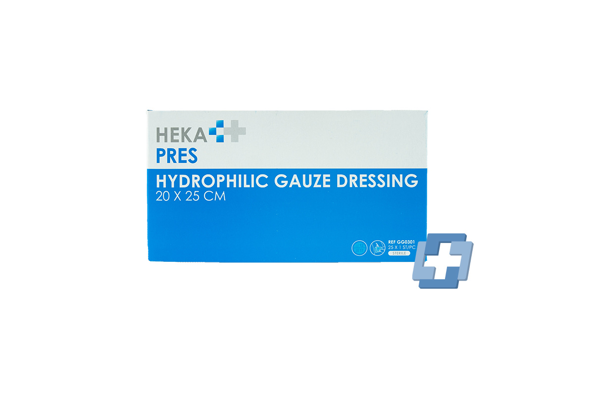 HEKA Hydrofiel gaaskompres 12 laags - 20 x 25 cm (25 stuks)