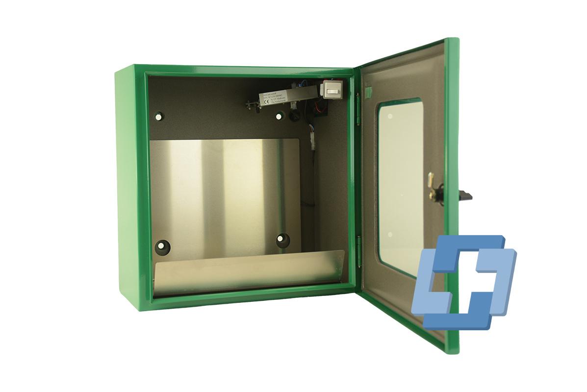 Sixcase AED buitenwandkast aluminium groen