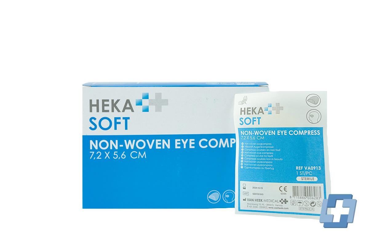 HEKA oogkompres - 7,2 x 5,6 cm (per stuk)