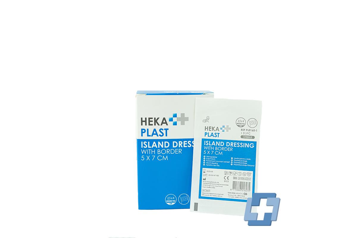 HEKA Eilandpleisters steriel - 5 x 7 cm (per stuk)