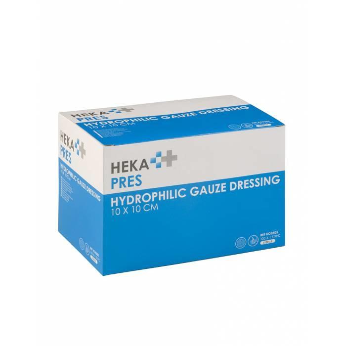 HEKA Hydrofiel gaaskompres steriel 12 laags steriel - 10 x 10 cm (per stuk)