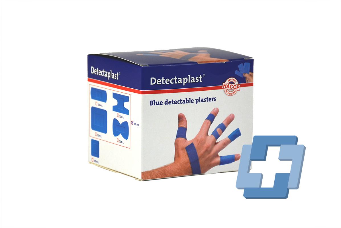 Detectaplast blauwe elastische textiel pleisters HACCP ET - diverse maten (100 stuks)