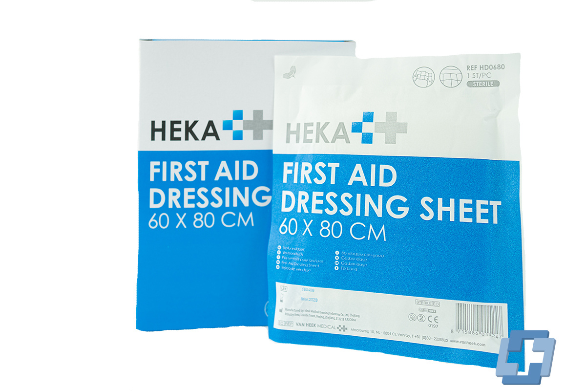 HEKA Burn dressing steriel - 60 x 80 cm (10 stuks)