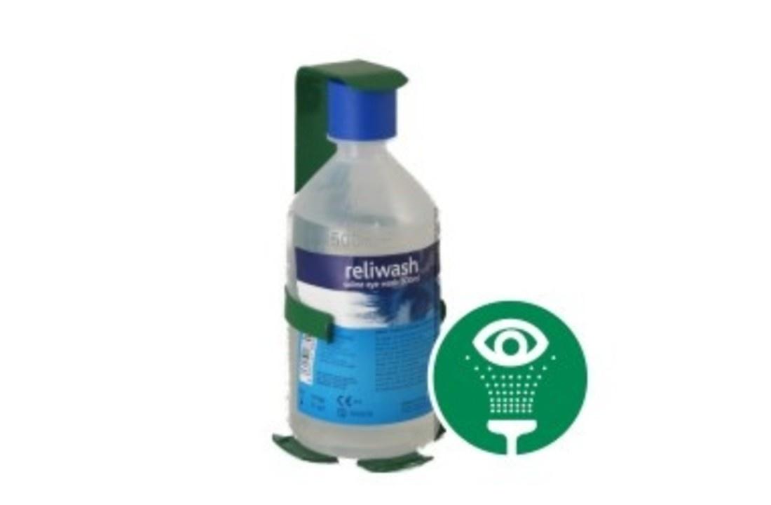 Reliwash oogspoel flacon - 500ml inclusief wandhouder