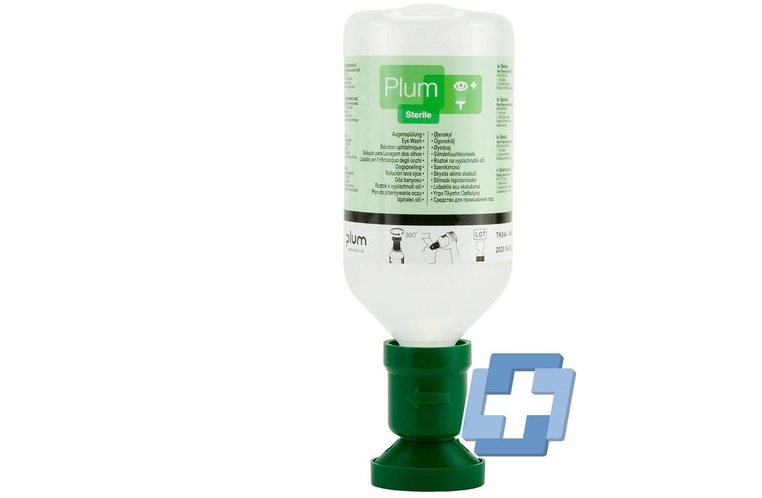 Plum oogspoelfles - 200ml inclusief wandhouder