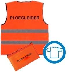 Veiligheidsvest opdruk oranje inclusief tasje - diverse teksten beschikbaar