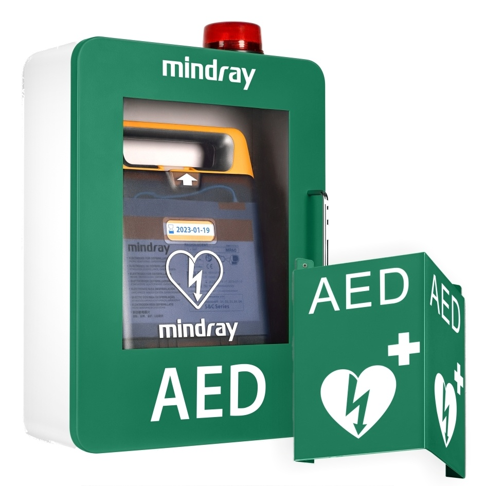 Mindray AED wandkast met alarm (groen)