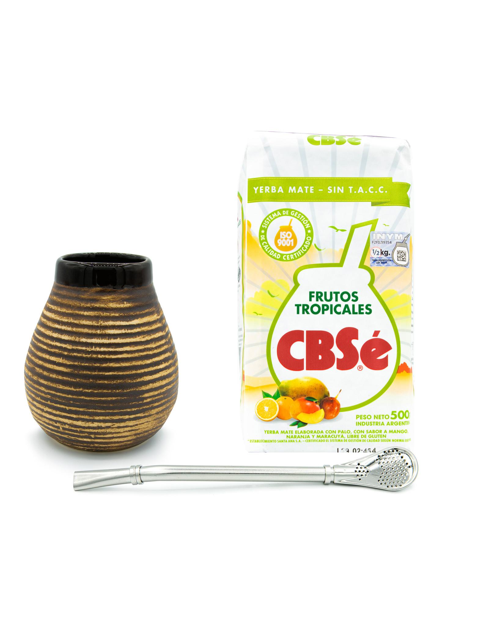 Starterskit calabaza céramique beige/brune