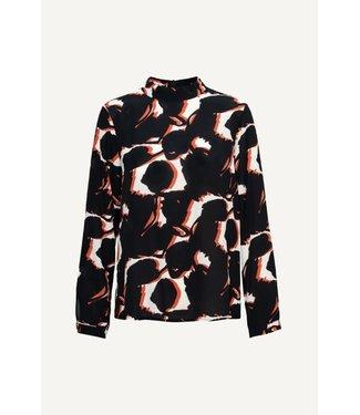 &Co woman Anna blouse top black/orange