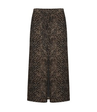 YDENCE Jane black print skirt