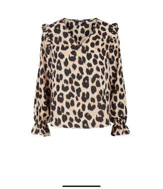 Pieces Leopard blouse d2d nolly