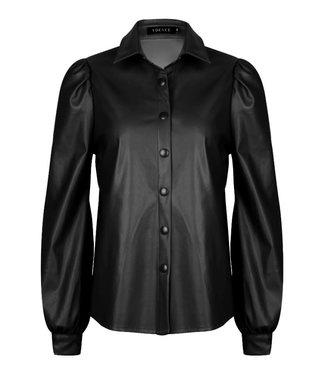 YDENCE Estel blouse black pu