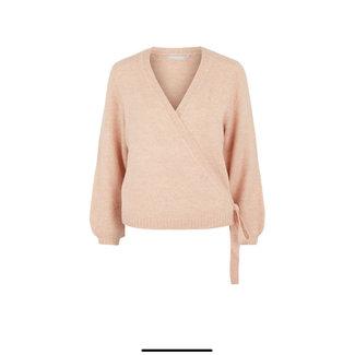 Pieces pcgessie ls wrap knit rose cloud