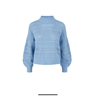 Y.A.S Trui baby blue broderie