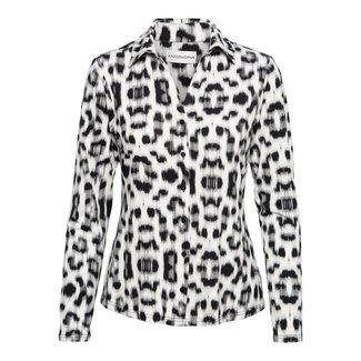 &Co woman vayen blouse leopard travelkwaliteit
