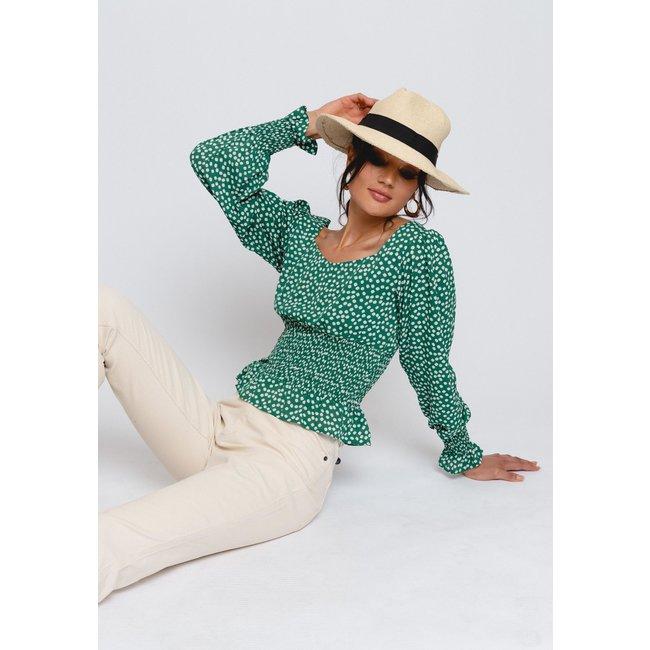 Gavi fashion liv blouse green