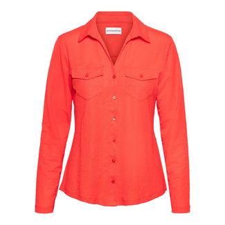 &Co woman lino blouse coral