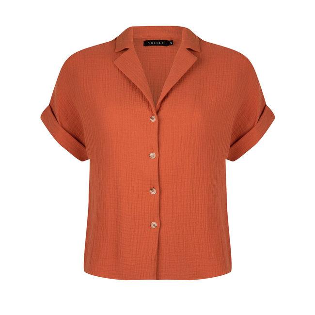 YDENCE blouse lena terracota