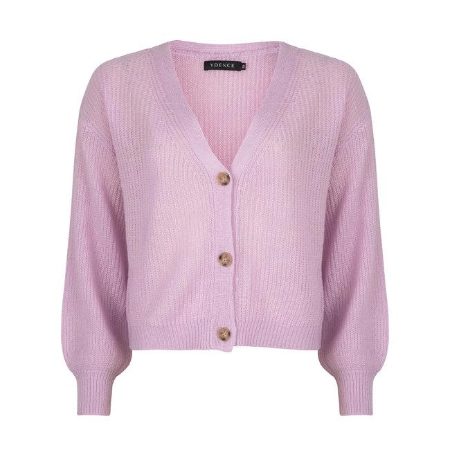 YDENCE rowan  cardigan lilac soft