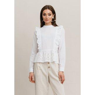 Rut&Circle louise blouse white broderie