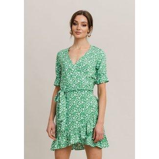 Rut&Circle scarlett wrap dress green