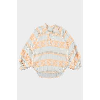 Trend blouse ballonmouw aztec print
