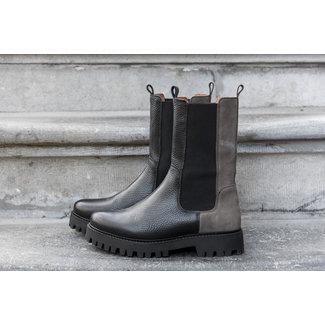 DWRS chelsea boot BOCHUM leer / suede 2692 Black