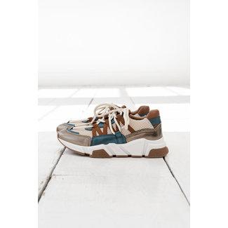 DWRS sneakers los angeles leer combi bronze/petrol