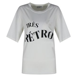 Fluresk retro t-shirt off white