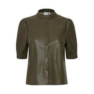 Ichi ihacoca pu blouse ivy green