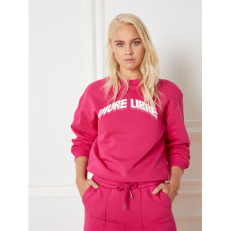 Department knitted sweater pink