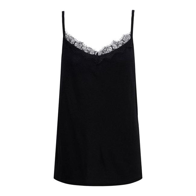 &Co woman violet lace top black